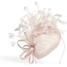 Phase Eight Audrina Feather Pillbox Fascinator ($79) ❤ liked on Polyvore featuring accessories, hair accessories, fascinator headband, feather fascinators, hair band accessories, feather headbands and headband fascinator