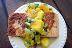 Mango Avocado Salsa and Pan Seared Salmon - Unconventional Kitchen::