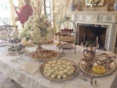 ~ Elegant Table Setting ~ #TeaParty #EnglishTea #tea #BoneChina #silver #antique #elegant #antique #catering #TeaTraditions #appetizers www.ttraditions.com