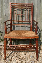 ENGLAND - PROGRESSIVE DESIGN: REFORMERS AND INNOVATORS 1830 - 1901 Morris and Co Rush Chair by Ford Maddox Brown