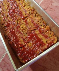 Vegan Lentil Loaf - I adapted the recipe and added in some Panko and about 1/4 grated cheese - yum!