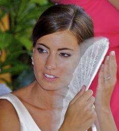 arancha novia con abanico