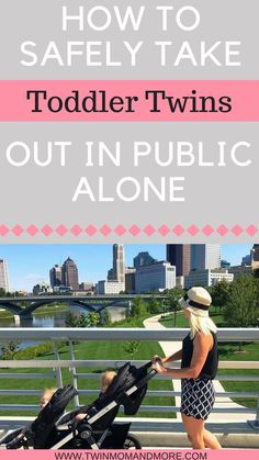 Taking toddler twins out in public alone can be daunting. Not only is it a lot of work, but keeping them safe can be tough. Read on for some great tips from a mom of toddler twins plus one! #twins #twinhacks #lifewithtwins #todlertwins #twinmom #parenting