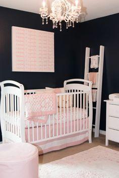 kinderzimmer gestalten babyzimmer für kleines baby mädchen rosa ... | {Kinderzimmermöbel baby 9}