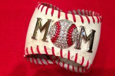 Recycled Ball Bracelet: Baseball Mom