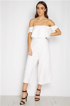 Romper Jumpsuit Clubwear Bodycon Women Playsuit Trousers Party Pants Ladies Sleeveless Short Casual Hot Bodysuit Long Us Womens Sleeve Slim. White Fashion, Boho Fashion, Fashion Outfits, Womens Fashion, Rompers Women, Jumpsuits For Women, White Culottes, Long Sleeve Romper, White Outfits