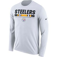 cc7992ca4 Picture of Pittsburgh Steelers Nike Legend Staff Long Sleeve White Tee