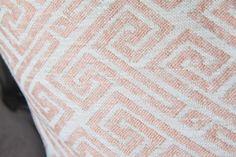 Blush Pink Pillow Cover - Modern Geometric Pink Ivory Pillow Cover - Throw Pillow - Designer Pillow - Ivory Pink Greek Key - Pale Pink