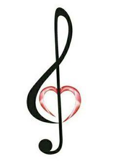 Resultado de imagem para treble clef with heart