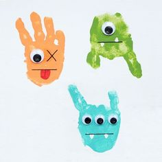 Handprint Monsters- for home made thank you cards/notes