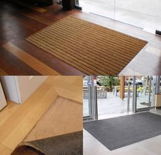 If you are tiling or putting timber floors in your entrance hall – a recessed matwell stops the issue of moving mats, muddy floors, slip hazards or front door not opening clear. Timber Flooring, Entrance Hall, Rugs, House, Ideas, Home Decor, Wood Flooring, Farmhouse Rugs, Entryway