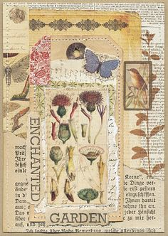 Love the collage on a book page. This just works together so well! The post Love the collage on a bo Art Journal Pages, Junk Journal, Art Journals, Paper Collage Art, Paper Art, Art Doodle, Glue Book, Nature Journal, Garden Journal