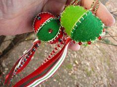 Chritsmas Ornament Hanging Wool Felt Ornament by BRIDGITSBELL
