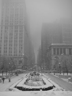 Snowy day in chicago... beautiful