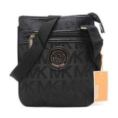 f7e3e1474104 Michael Kors Logo Signature Large Black Crossbody Bags Outlet -  74.99 Michael  Kors Handbags Outlet