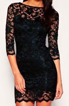 Black lace dress so cute love it