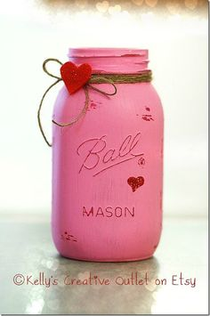 Sometimes it's fun to DIY your own Valentine's mason jars with paint and sandpaper … … and sometimes it's more fun to just order them from and Etsy shop. I've recently made the...
