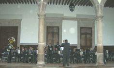 La Piedad. La Banda Sinfónica del Estado de Michoacán. Cuando se inauguró el alumbrado del jarcín central.