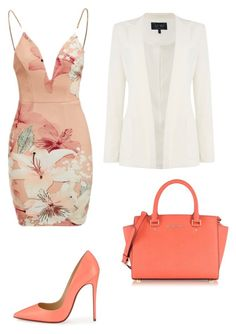 """""""Outfit"""" by maria-alejandra-mora-oviedo on Polyvore featuring Ginger Fizz, Christian Louboutin, Armani Jeans and Michael Kors"""