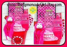 PERSONALIZED Girls Basket, Valentines Day Basket, Personalized Valentines Day Basket,  Birthday Bucket by TheLemonadeGirl, $40.00