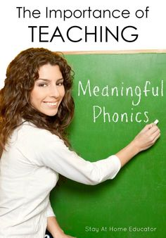 The Importance of Teaching Phonics and Making It Meaninful Abc Phonics, Phonics Lessons, Teaching Phonics, Teaching Reading, Phonics Sounds, Jolly Phonics, Phonics Worksheets, Teaching Strategies, Guided Reading