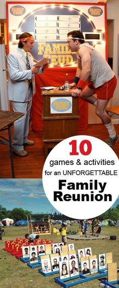 Family Reunion Party and Games - Family games for adults and children. Fun games to get to know each other. Family Feud, Giant Guess Who and more games.