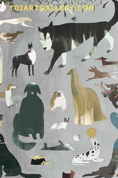 Limited edition prints @toiartgallery.com Dogs by Eunyoung Choi Presents For Her, Limited Edition Prints, Art For Sale, Giclee Print, Moose Art, Art Gallery, Wall Art, Illustration, Dogs