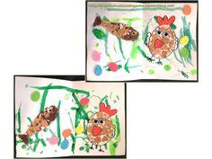 Bricolage enfants pour Pâques. Petite carte pour Pâques