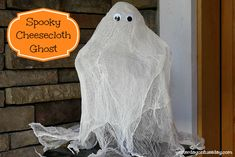 Spooky Cheesecloth Ghost with supplies from Ben Franklin Crafts and Frames Redmond #halloweendecor #halloweencrafts #craftsandframes