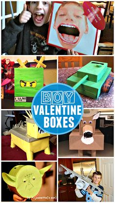 Awesome Valentine Card Boxes Boys will Love - Crafty Morning Boy Valentines Day Boxes Valentine Boxes For School, Valentines For Boys, Valentine Day Crafts, Valentine Ideas, Printable Valentine, Homemade Valentines, Valentine Wreath, Valentine Stuff, Valentine Party
