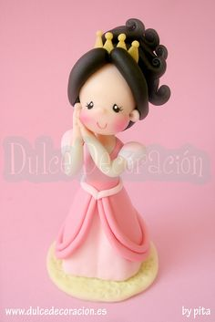 Muñeca princesa personalizada Andrea by Dulce decoración (modelado - tartas decoradas), via Flickr