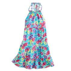 Chaps+Floral+Halter+Sundress+-+Girls+4-6x