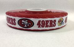 "San Francisco 49ers 7//8/"" Grosgrain Ribbon BTY"