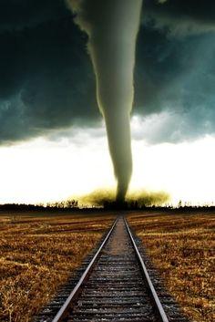 Tornado on the train tracks...