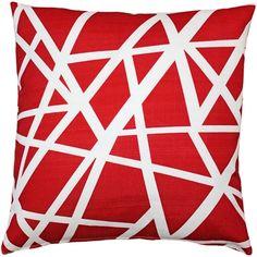 Bird's Nest Red Throw Pillow from Pillow Décor – orange accent pillow Red Throw Pillows, Outdoor Throw Pillows, Accent Pillows, How To Clean Pillows, Nest Design, Teal Background, Pillow Arrangement, Red Sofa, American Decor
