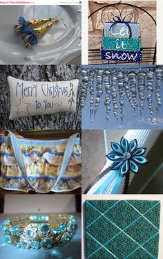The Christmas Blues by deb on Etsy--Pinned with TreasuryPin.com