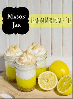 Mason Jar lemon meringue pies!