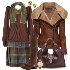 """""""AUTUMN PLAID"""" by lbite1 on Polyvore"""