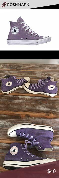 26f763f9e4f5 Converse Chuck Taylor All Star Seasonal High Top EUC. Color is Moody Purple  Canvas.
