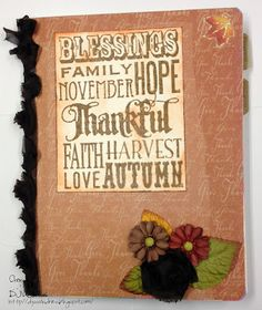 DJ's Sundries: Thanksgiving Organization - Without a Filofax