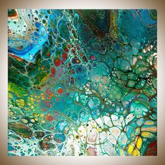 Abstract art Colourful Abstract original artwork painting on