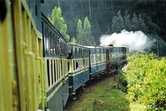 This is a photo taken by me from the Nilgiris Mountain Train, Ooty, India. This 115 year old train built by the British still chugs along the hills. It was bestowed with the prestigious UNESCO World Heritage Status recently. It is a must try!