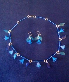 Winter Fairy Necklace & Earrings Set w/ Clip On Option by CarasCreationsUK, £9.00