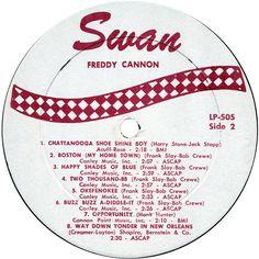 Freddy Cannon - Freddy Cannon's Greatest Hits LP Label 2