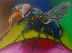 Acrylmalerei, Insekt, Portrait, Bunt, Malerei