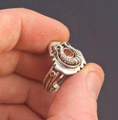 Rialto Größe 6 Spessartin Granat Ring / / Tendai von TendaiDesigns