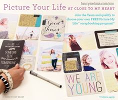 Join CTMH Nov 1 - Dec 15 and get a Picture My Life Collection for FREE www.fancymelissa.com #projectlife #scrapbooking #craft #diy ctmh pictur, scrapbooking, heart, project life, life kit, craft business, join, journal cards, close