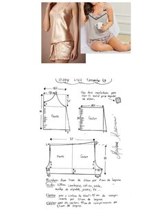Learn To Sew Sewing Class Crochet Bikini Alice Pajamas Silk Shorts Diy Crafts Lingerie Sleepwear Underwear Pattern, Lingerie Patterns, Clothing Patterns, Swimsuit Pattern, Bra Pattern, Pants Pattern, Sewing Bras, Sewing Clothes, Long Dress Patterns