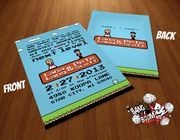Are you looking to add a little geek chic to your wedding day? Then start off right with a custom-made geeky design for your invitations.