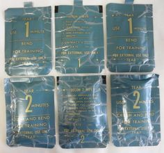 *Vintage US Military Decontamination Wipes - New but old Stock -1986 - Lot of 6